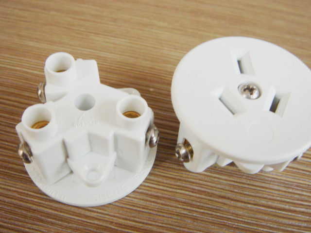 Australia Round Electric Power Sockets , Grounding 3 Prong Power Wall Outlet